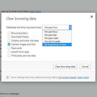 Clear your cache on your Windows Computer